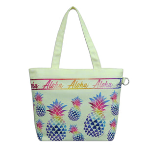 Island Impressions Small Tote Bag - Pineapple Rainbow