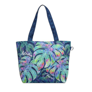 Island Impressions Small Tote Bag - Aloha Hawaii Monstera