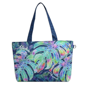 Island Impressions Medium Tote Bag - Aloha Hawaii Monstera