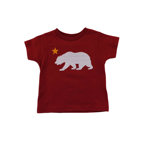 Kids Cali Bear Star T-Shirt Red