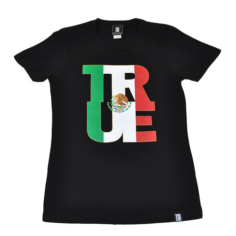 True Womens Logo Fill Mexico T-Shirt Black.