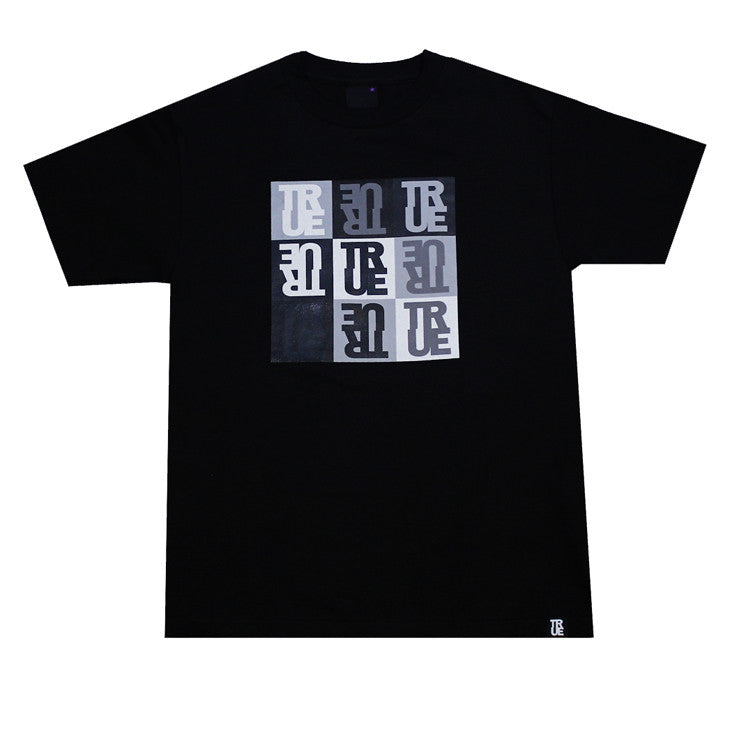 Mens True Squares T-Shirt Black - Shop True Clothing