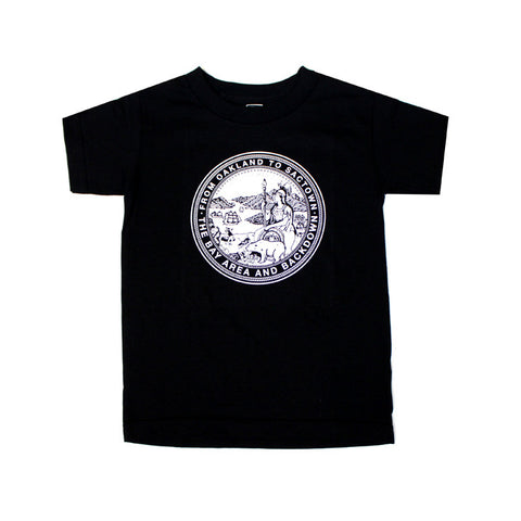 Kids True State Seal T-Shirt Black