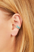 Load image into Gallery viewer, Gala turquoise gold vermeil ear cuff