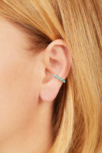 Load image into Gallery viewer, Jumbo turquoise stones gold vermeil ear cuff