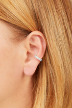 Load image into Gallery viewer, Two rows sterling silver large ear cuff