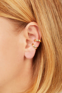 Simple gold vermeil large ear cuff