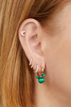 Load image into Gallery viewer, Maya malachite gold vermeil earring