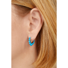 Load image into Gallery viewer, Tiara turquoise sterling silver earring
