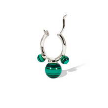 Load image into Gallery viewer, Maya malachite sterling silver earring
