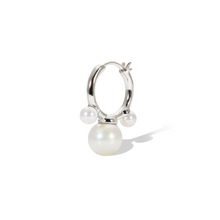 Load image into Gallery viewer, Maya pearl sterling silver earring