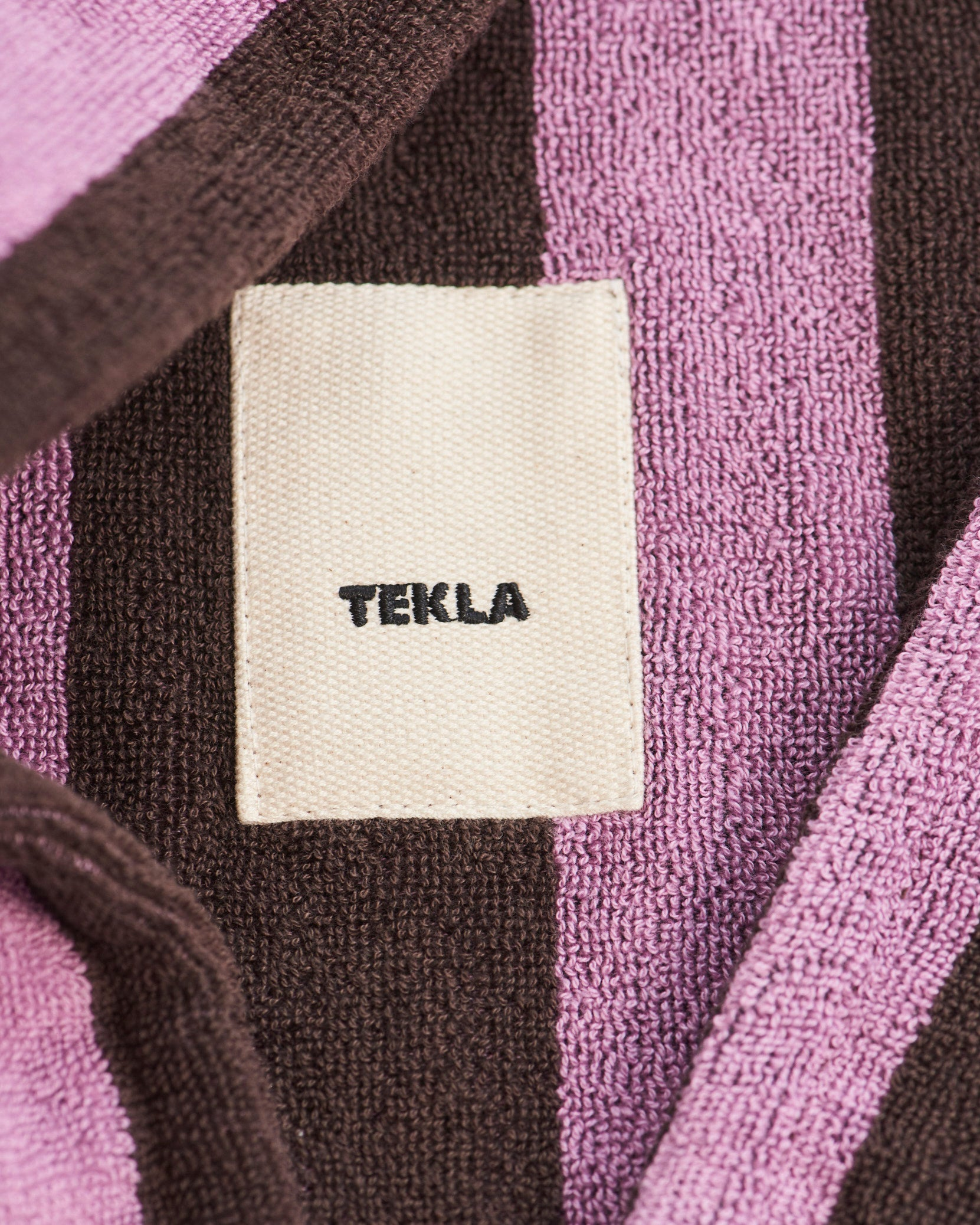 Bathrobe Terry, Purple Brown fra Tekla Fabrics