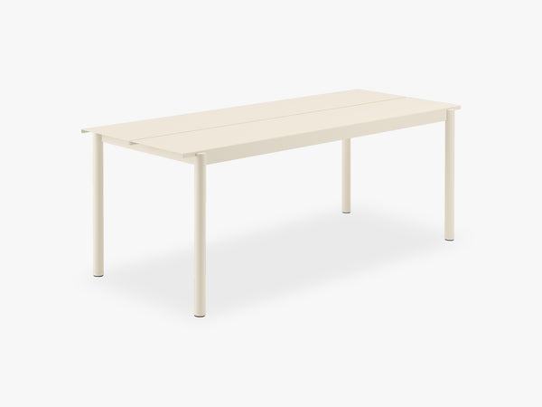 Linear Steel Table - 200, White fra Muuto