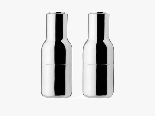 Bottle Grinders, Mirror Polished Steel fra Menu