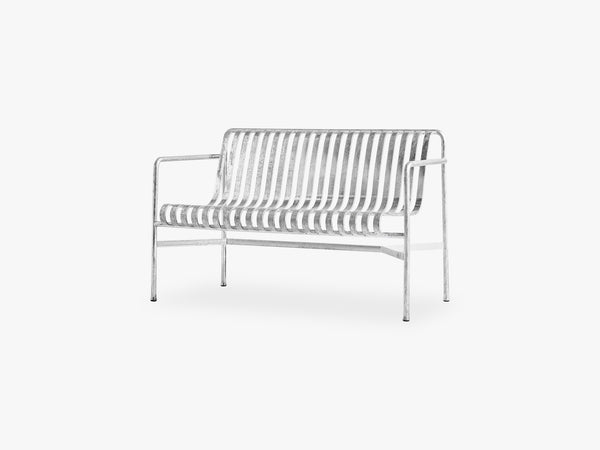 Palissade Dining Bench, Hot Galvanised fra HAY