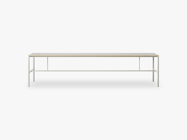 Mies Conference Table C1, Light Grey/Grey Linoleum Oak fra MILLION