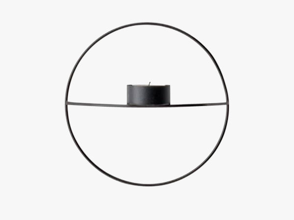POV Circle, Tealight Candle Holder, S, Black fra Menu