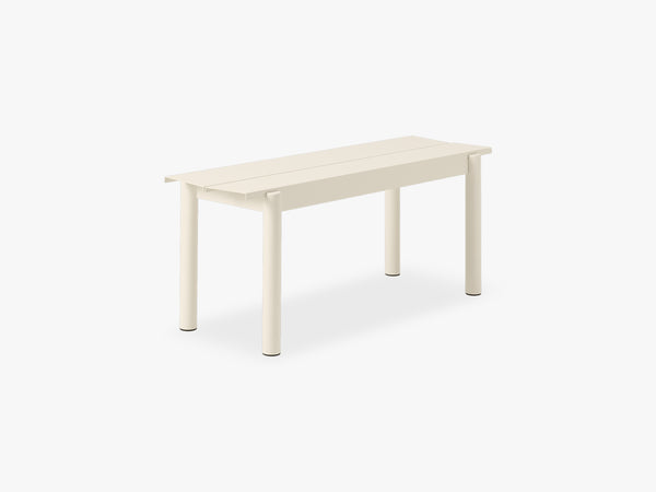 Linear Steel Bench - 110, White fra Muuto