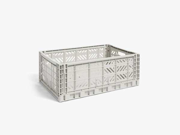 Colour Crate Large, Light Grey fra HAY
