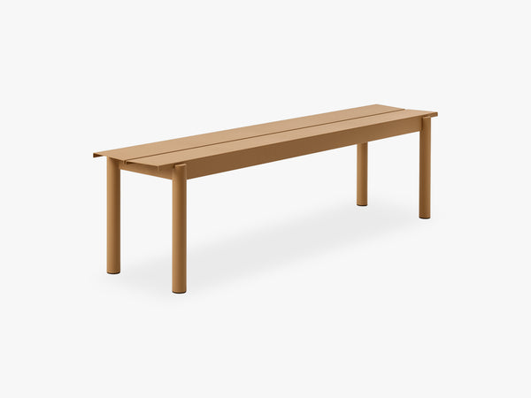 Linear Steel Bench - 170, Burnt Orange fra Muuto