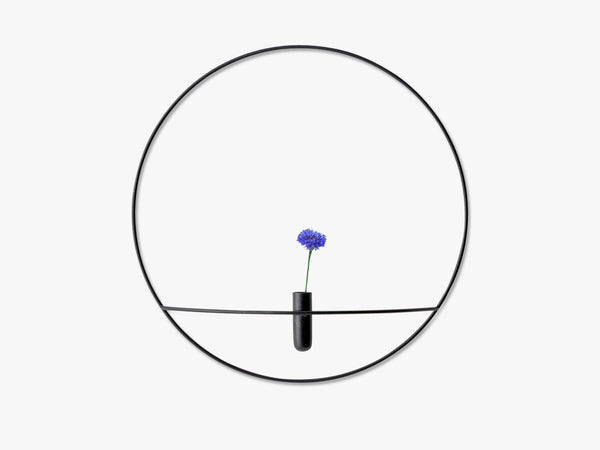 POV Circle Vase, Large, Black fra Menu