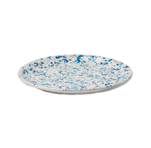 Sconset Mixed Blue Spongeware Dinner Plate