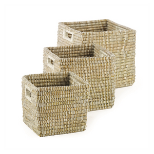 White Weave Storage Baskets