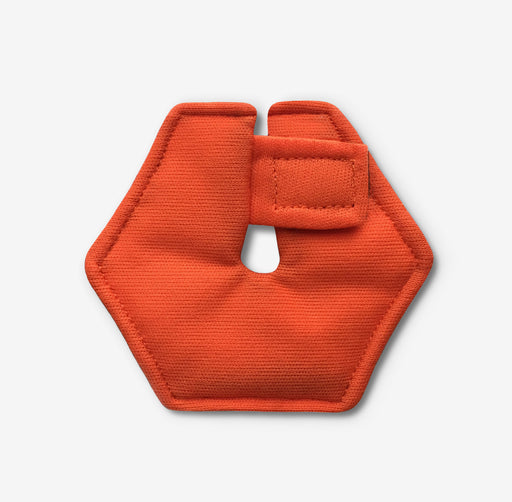 Hexagonal feeding tube pad in orange color