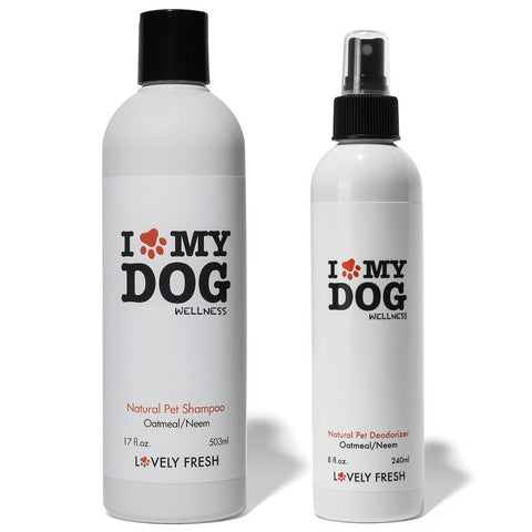 Natural Dog Shampoo Oatmeal & Neem - Lovely Fresh - 5