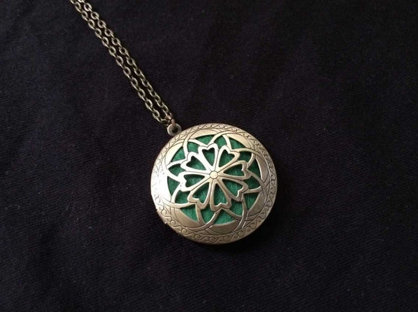Aromatherapy Locket Pendant Difusser for Essential Oil Style 1