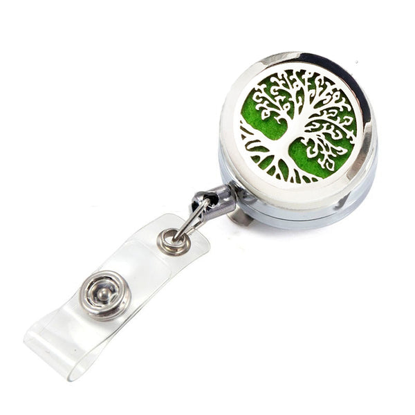 AromaBug™, Aroma I.D.™ Badge Clip Holder (Retractable cord)  7 Designs (Out of Stock)