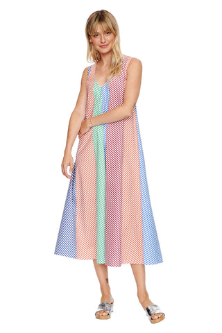 Stripe Scarf Dress 2 left
