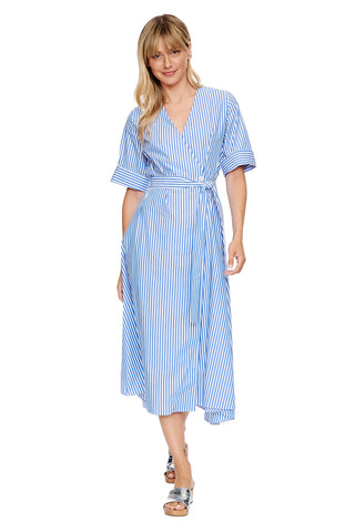Stripe Wrap Dress 1 left