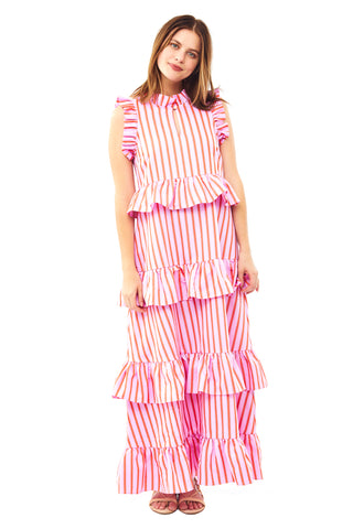 Pink Stripe Soirée Dress