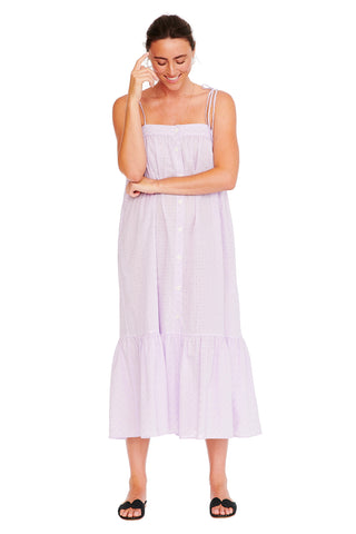 Lavender Eyelet Easy Cami Dress