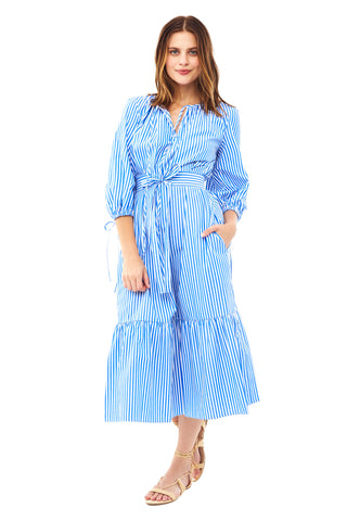 Cobalt Stripe Garden Dress
