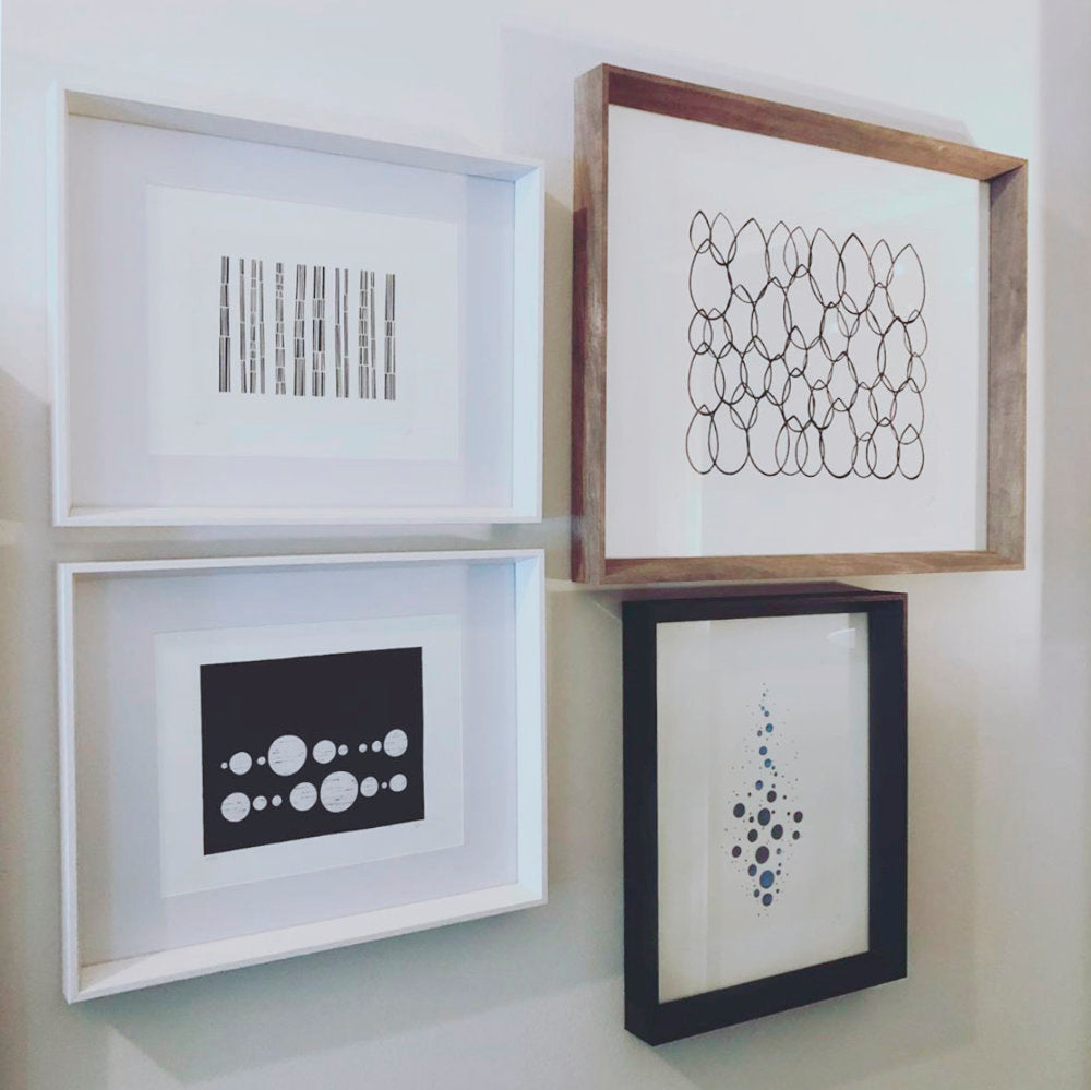 Gallery Wall of Household Art Prints by Candice Brown Design