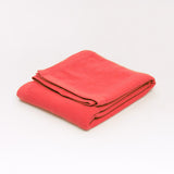 Cashmere blanket in Salmon