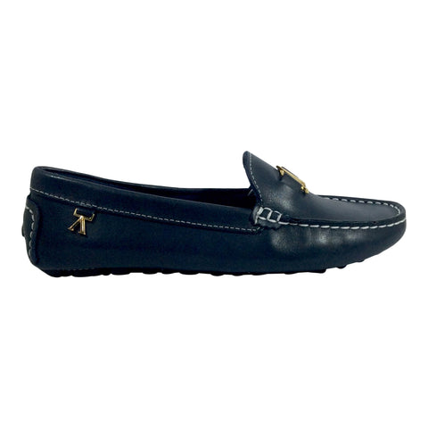 Andacco - Alice - Navy Leather Moccasin - Sole Sister Shoes