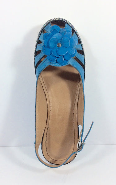 Stegmann - Leather Wedge - Liza - Turquoise