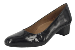 Aerobics - Hostess - Black Patent - 3.5cm Heel - Sole Sister Shoes