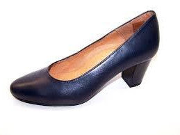 Aerobics - Hostess - Navy Leather - 5.5cm Heel - Sole Sister Shoes