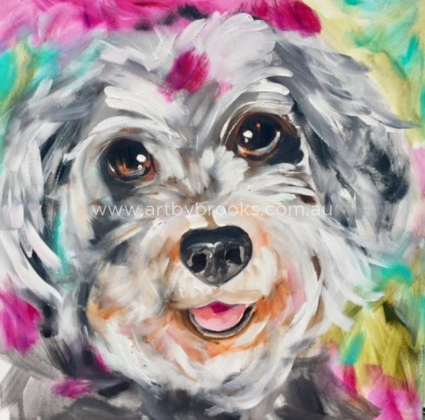 Pet Portrait - Commissioned 60 X60 Cm Originals