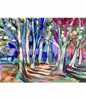 Snow Gum Lane - Art Print Art