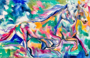 Thundering Hooves Art Print Art