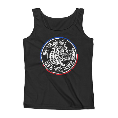 "Women's ""White Tiger"" Master Yai Yai Fitted Tank Top from Michelle Waterson Karate Hottie"