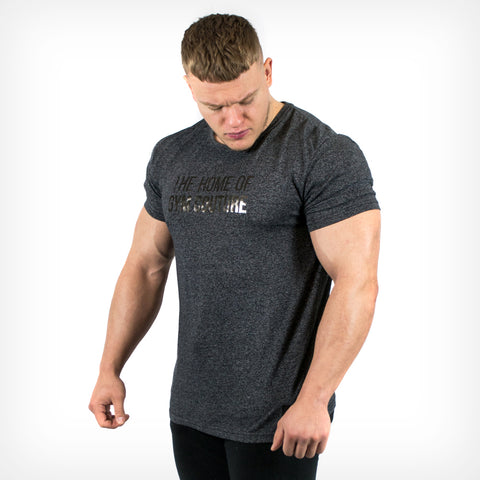 Men's Platinum Gym Couture T-Shirt Charcoal Black