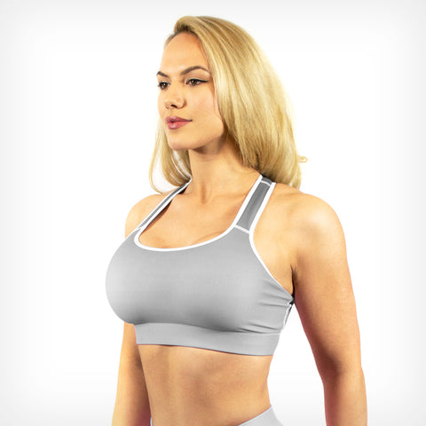 Chalk fade sports bra Lift Heavy Apparel