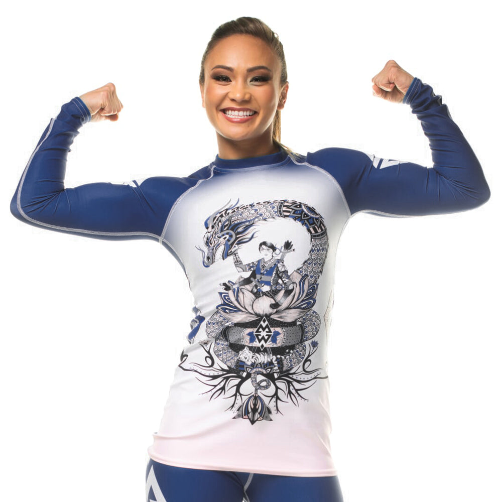 Women's Michelle Waterson Stronger Together Rashguard from Lift Heavy Apparel Fight Club