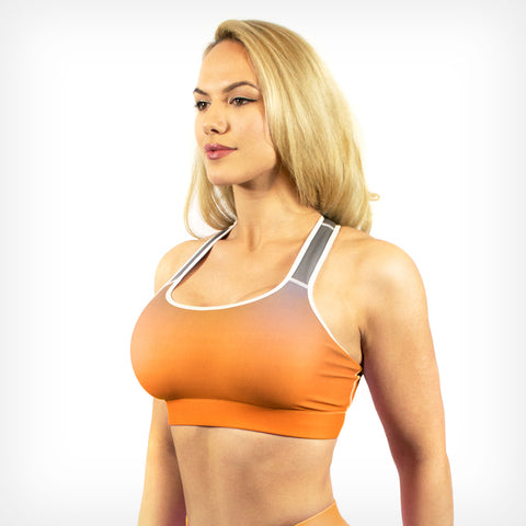 Sunset fade sports bra Lift Heavy Apparel